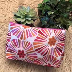 Clinique Cosmetic Pouch-Pink Floral-9.5x6x3-EUC